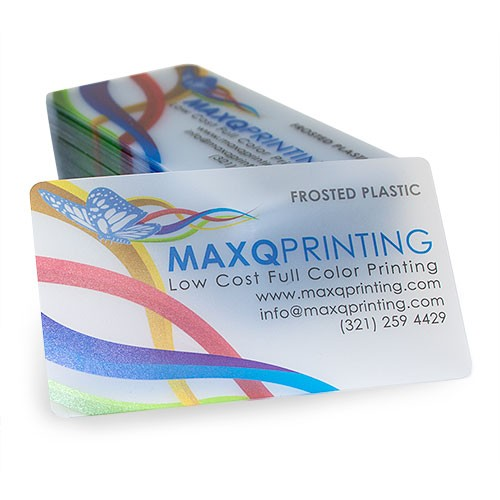 Full color printing 20pt frosted plastic business cards with round 20pt frosted plastic business cards with round corners reheart Images