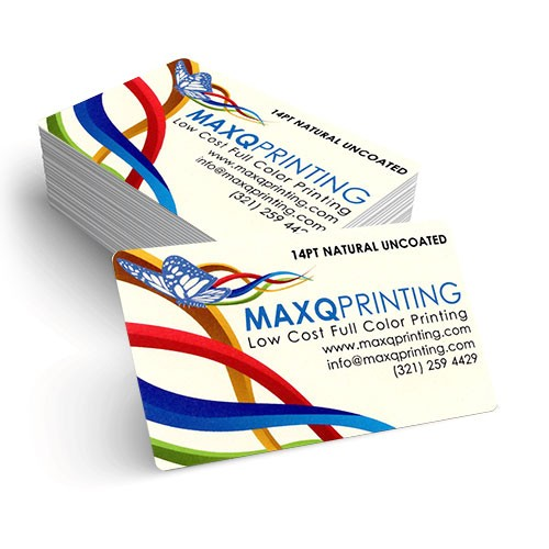 2x3.5 Natural Uncoated Rounded Corner Business Card