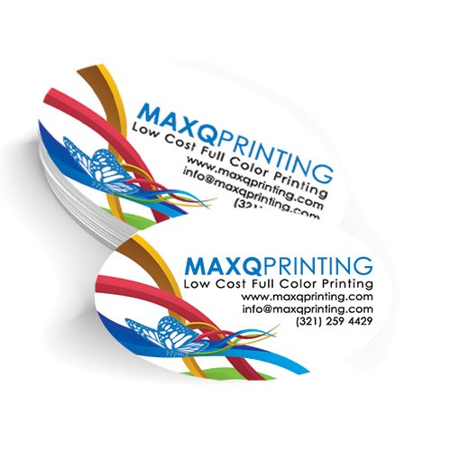 2x3.5 Oval Business Card with Matte Coating