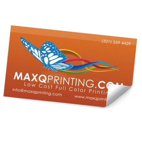 4x9 Stickers on Label stock with UV
