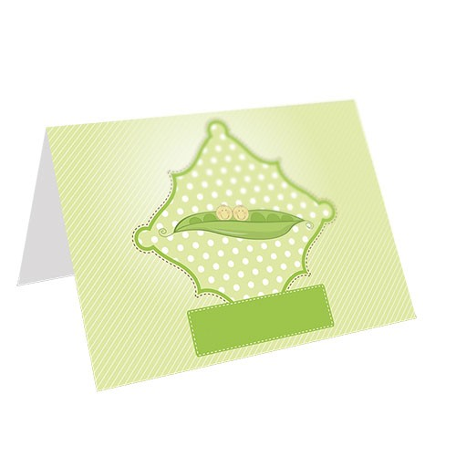 5x7 (Folded) 14PT Pearl Metallic Greeting Cards