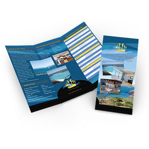 8.5x11 Brochure with UV Coating