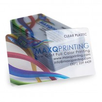 20PT Clear Plastic Business Cards with Round Corners