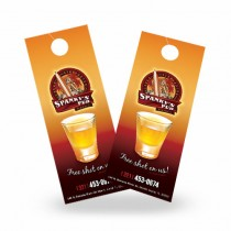 4.25X11 Die Cut Door Hangers with UV