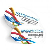 2x3.5 Oval Business Card with UV Coating