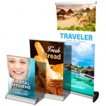 15.75x32 Tabletop Retractable Banner