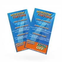 8.5x3.5 Postcards with tear-off perforation with UV