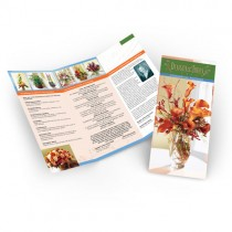 8.5x11 Short Run Brochures No Aqueous Coating