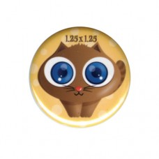 """1.25"""" Round Promotional Buttons with Locking Safety Pin"""