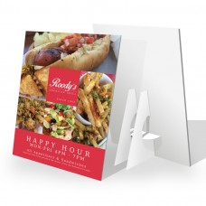 9x12 - 3mm White PVC Counter Cards with Easel Backs