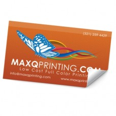 2x8 Stickers on Label stock with UV