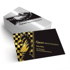 2X3.5 16PT Silk Laminated Foiled Business Cards